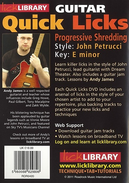 quick licks john petrucci progressive shredding in em