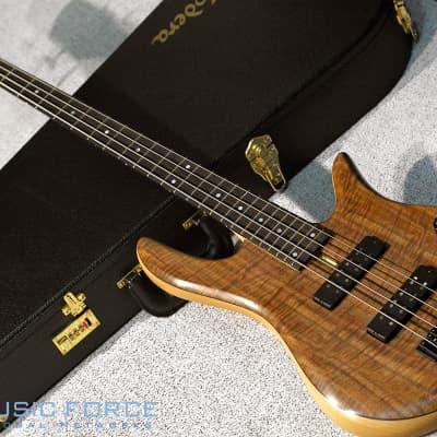 Fodera Monarch 4 Standard Special LTD-Flamed Walnut Top w/Ebony FB for sale