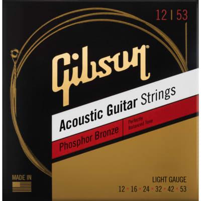 Gibson Phosphor Bronze Acoustic Strings - Light 12-53