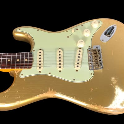 2019 Fender Stratocaster 1962 Custom Shop '62 Strat Heavy Relic ~ Aztec Gold for sale
