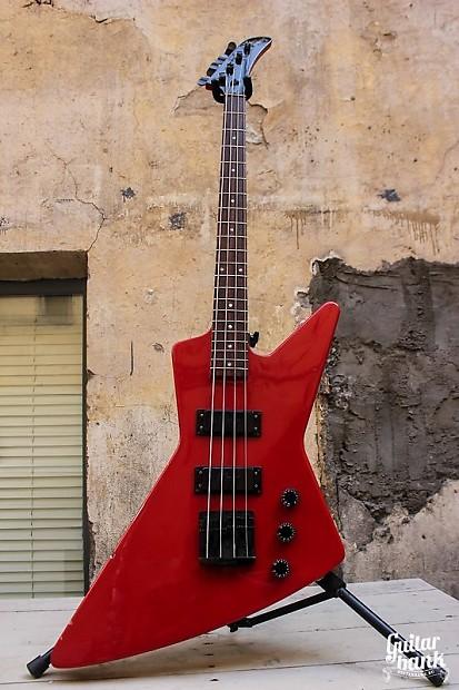 rare american gibson explorer bass usa 1984 red all original reverb. Black Bedroom Furniture Sets. Home Design Ideas