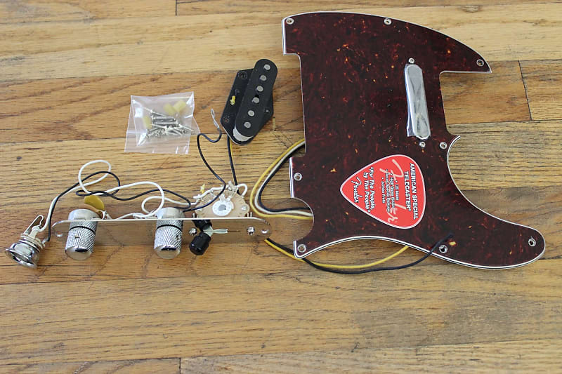 Fender American Texas Special Tele LOADED PICKGUARD Black 3 Ply Made In The USA!