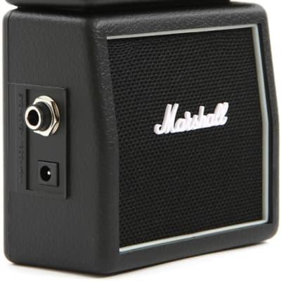 Marshall MS-2 1-Watt Battery-Powered Black Micro Guitar Amp, Black Finish