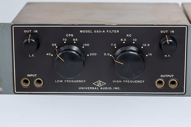 Universal Audio 550-A 2 channel hi and low pass filter 1960s Black