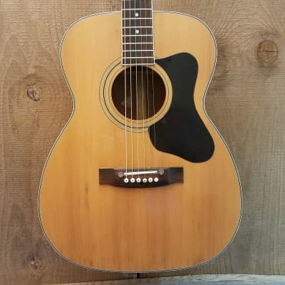 Madeira by Guild A-2 Vintage OM Acoustic Guitar Natural c. 1970s for sale