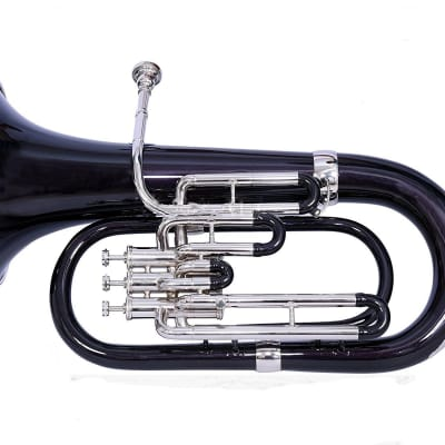 sai musicals eu-15 Euphonium Black + Nickel Lacquer Bb Pitch With Free Carry Bag + Mp 2019