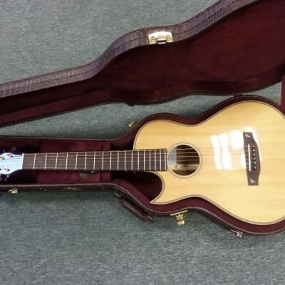 L/H  Terry Pack PLRS parlour guitar,handmade, rosewood B/S, best small guitar, big sound,  save £300 for sale