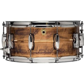 """Ludwig LC663 Raw Copper Phonic 6.5x14"""" Snare Drum"""