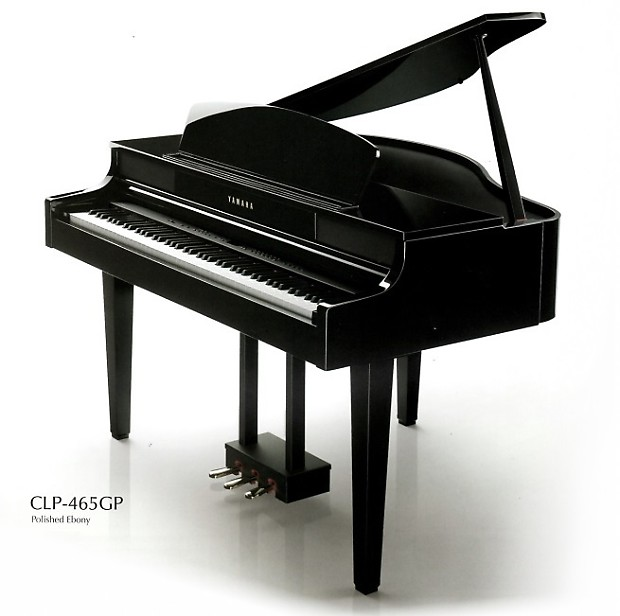 yamaha clp 465gp digital mini grand piano reverb