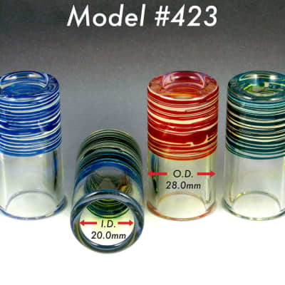 SILICA SOUND SLIDES - 423 HEAVY SHORTY - COLOR - HEAVY WALL, SHORTY, 28mm