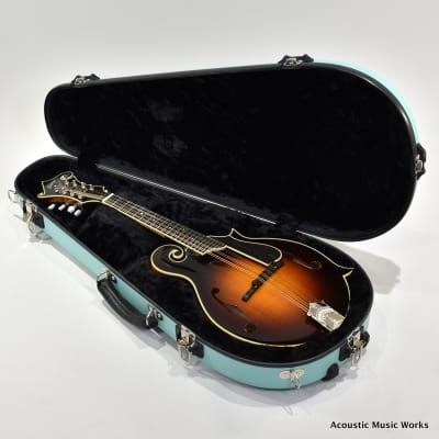 Calton Cases F or A Model Mandolin Case, Sonic Blue, Black Interior