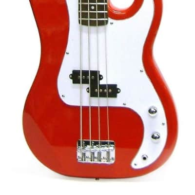 Crestwood Bass Guitar 4 String Red P-Style for sale