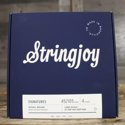 Stringjoy Light Top / Heavy Bottom Gauge (45-105) 4 String Long Scale Nickel Wound Bass Guitar Strin