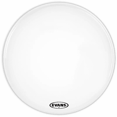 "Evans BD28MX2W MX2 White Marching Bass Drum Head - 28"""