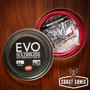 Disaster Area Designs EVO Solderless Cable Kit 20 plugs Red