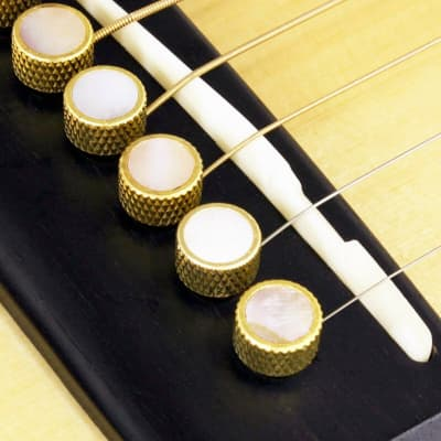NEW Bridge Pin Set Tone Pin for Acoustic Guitars TP3M - SOLID BRASS PEARL INLAY for sale