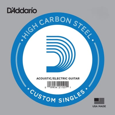 D'Addario PL017 Single Plain Steel 017