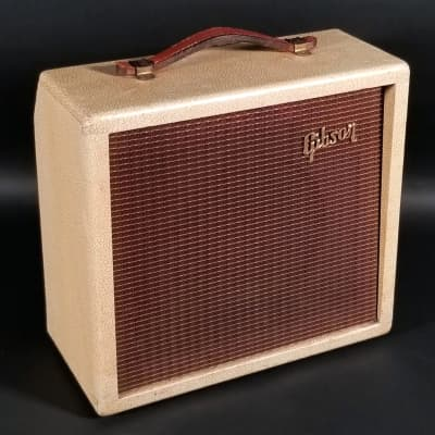 A stoked little brute!  1961 Gibson GA-5T Skylark amp, 1x8, w/ tremolo, all orig, nice shape!