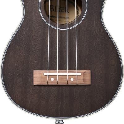Adam Black  Soprano Electro Acoustic  Ukulele SB120  Black for sale