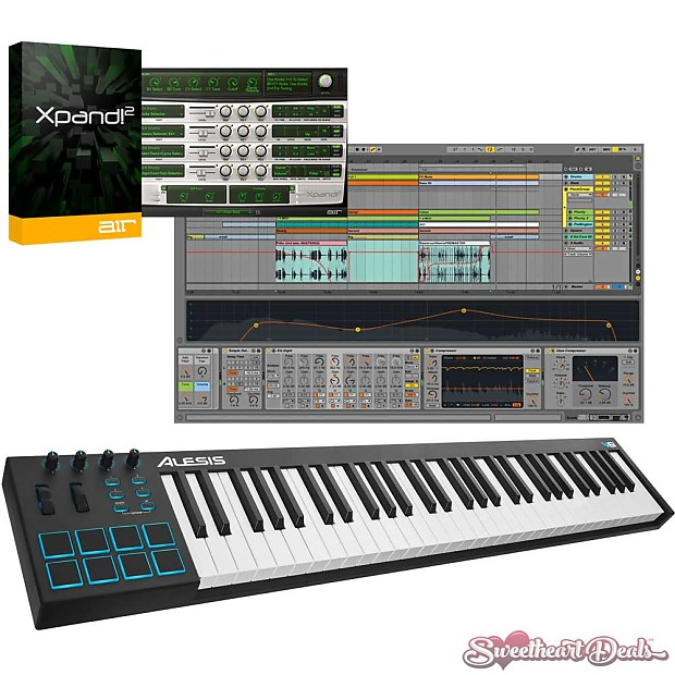 Alesis V61 61-Key USB MIDI Keyboard Controller + Ableton Live | Reverb