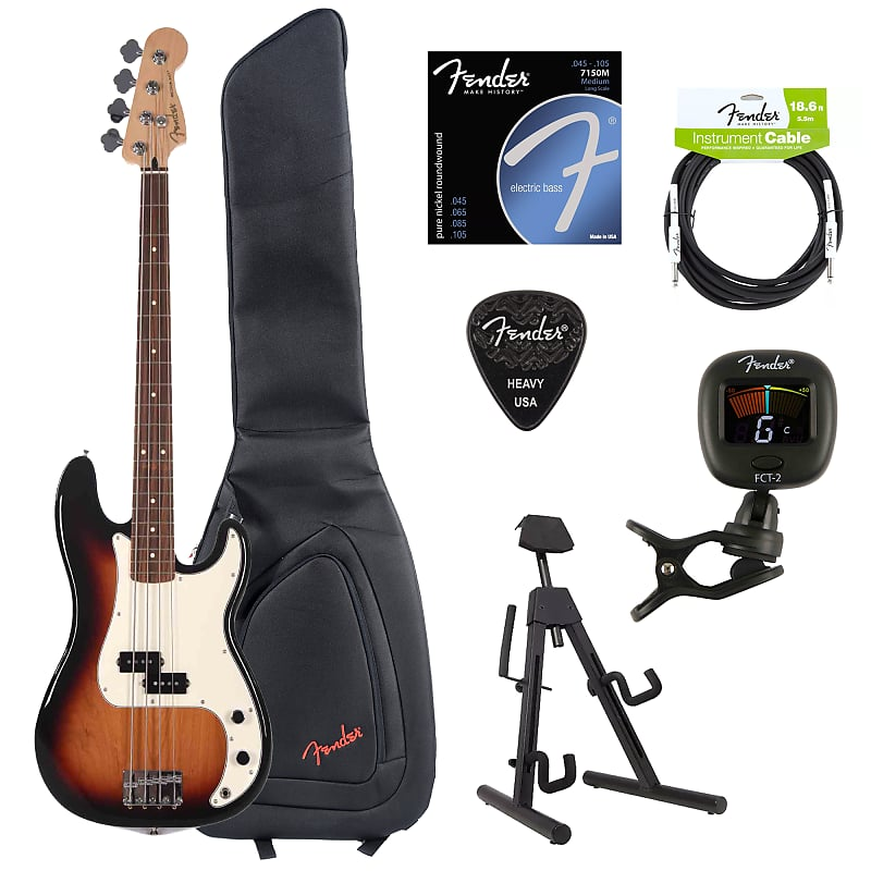fender player precision bass 3 color sunburst bundle w fender reverb. Black Bedroom Furniture Sets. Home Design Ideas