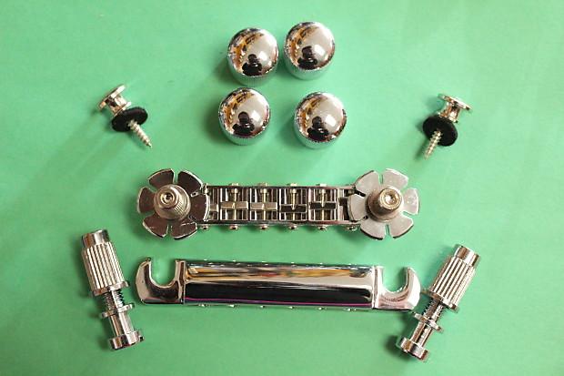 zemaitis guitar parts lot chrome bridge tailpiece reverb. Black Bedroom Furniture Sets. Home Design Ideas