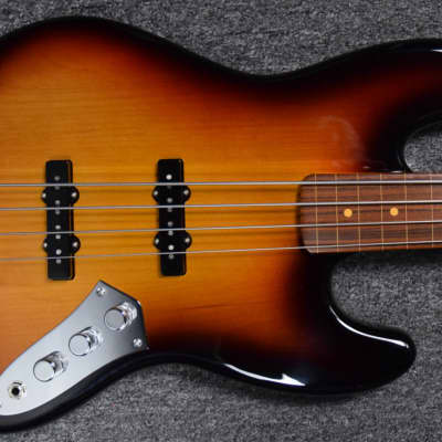 Fender Jaco Pastorius Artist Series Fretless Jazz Bass, 3 Tone Sunburst with Lined Rosewood Board for sale