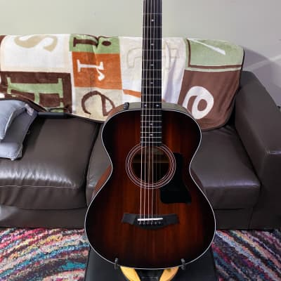 Taylor Taylor 322e Grand Concert Acoustic-Electric Guitar Shaded Edge Burst 2018 Medium brown stain with Shaded Edge Burst on top