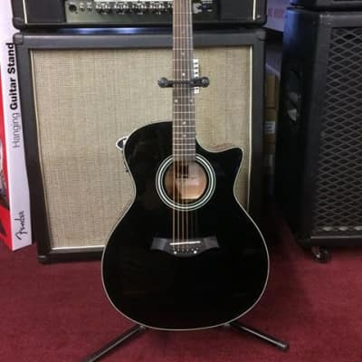 Tagima California-T Gloss Black Cutaway Acoustic-Electric Guitar #0540 [ProfRev] for sale