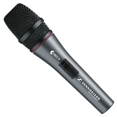 Sennheiser E 865 S Condenser Vocal Microphone with On/Off Switch