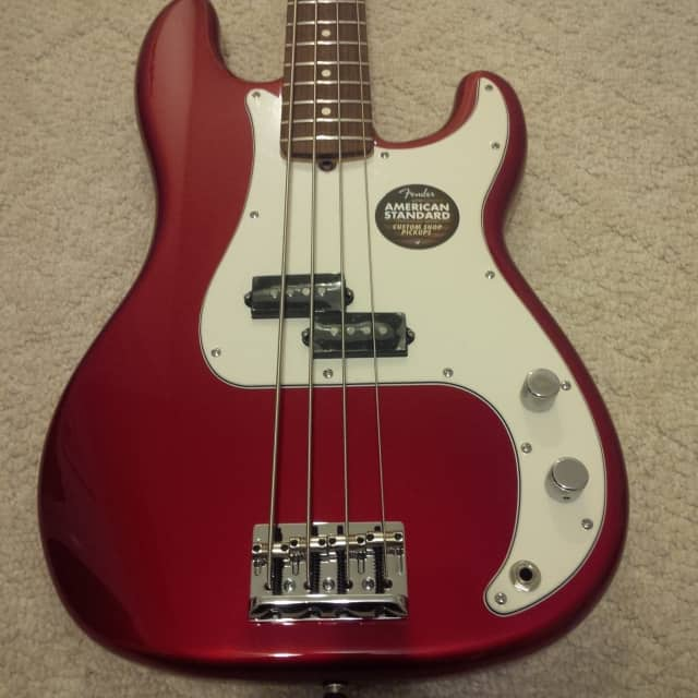 New Fender American Standard Precision Bass 2013 Candy Apple Red With Elite Case image