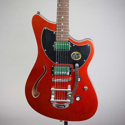 Tagima Jet Blues Deluxe Semi-Hollow Guitar   Mettalic Orange for sale