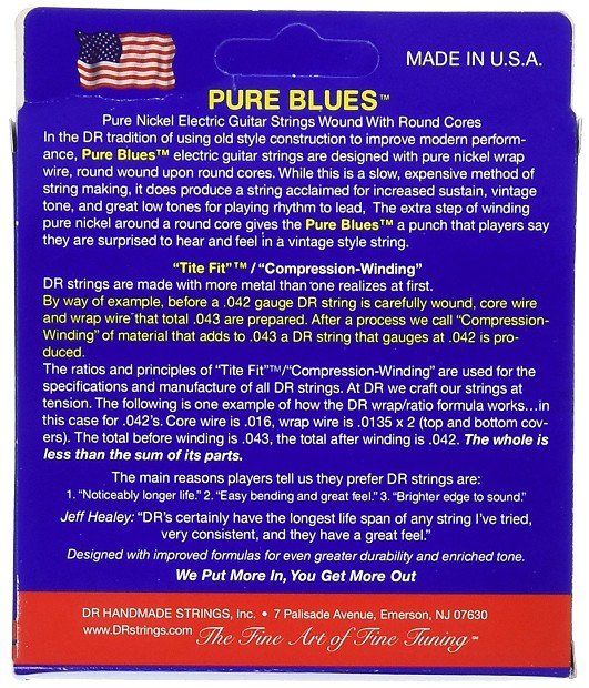 dr phr 9 pure blues pure nickel electric guitar strings 9 42 reverb. Black Bedroom Furniture Sets. Home Design Ideas