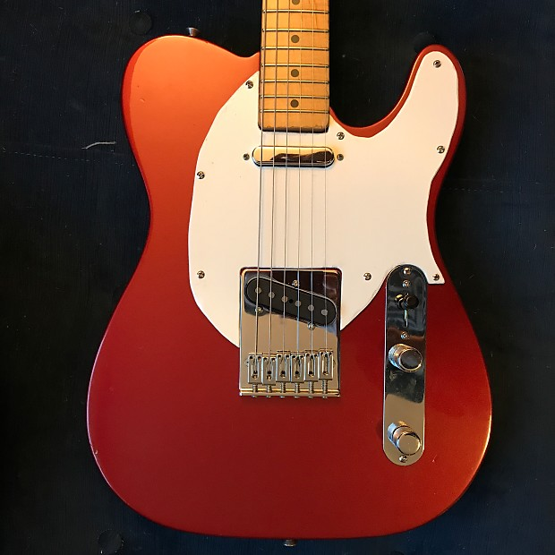 fender telecaster 1994 candy apple red with 4 way series parallel mod