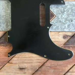 Real Life Relics Genuine Fender Pickguard Telecaster 8 Hole 3 Ply Black Aged 0991356000