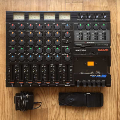 ☆ RARE ☆ 1987 Tascam 4-Track HS Cassette Tape Portable Recorder TEAC ~ MTR ☆ Serviced/Calibrated ☆