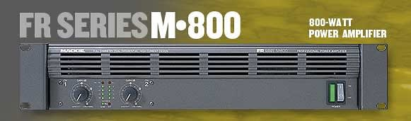 Mackie M800 Power Amplifier Powered Amplifier Reverb