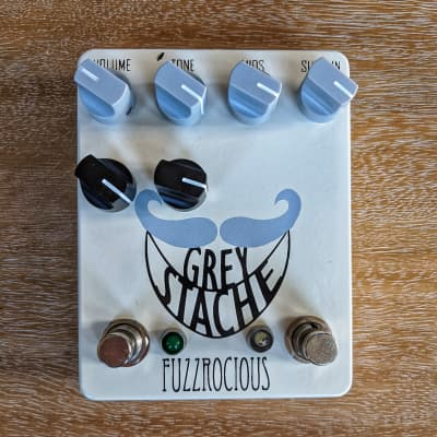 Fuzzrocious Grey Stache with Octave Jawn Mods WHITE
