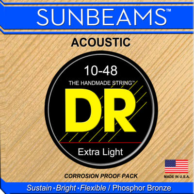 DR Strings RCA-10 Sunbeam Acoustic Strings - Extra Lite, 10-48 for sale