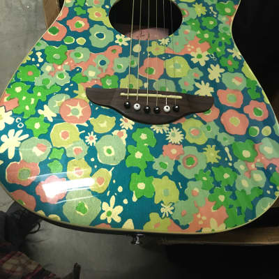 Fender Stratocoustic Rare Blue Flower for sale