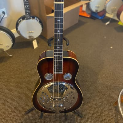 Gold Tone PBS-M Paul Beard Signature Square Neck Resonator With Hard Case for sale