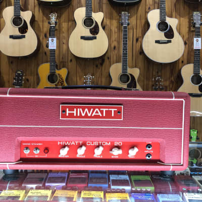 HIWATT CUSTOM 20 HEAD AND CAB RED PRE-LOVED for sale