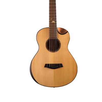 Islander AS-MG-EQ-Solid Spruce Mini Guitar with Bevel Cutaway, EQ-Active Pickup for sale