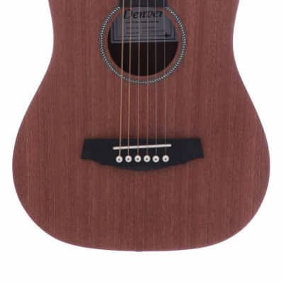 Denver DTR34S-BR Junior 3/4-Scale Travel Guitar Acoustic w/Bag  - Brown for sale