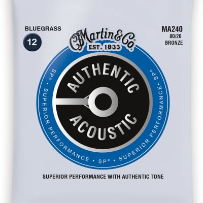 Martin MA240 SP 80/20 Bronze Bluegrass Acoustic Guitar Strings