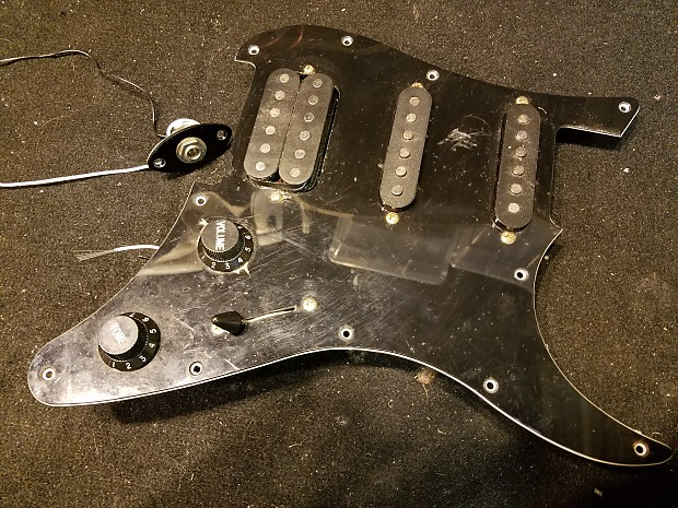 Yamaha EG112 C2 Pickups Wiring Harness and Pickguard for Stratocaster on