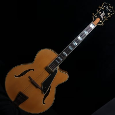 Peerless New York Archtop Electric Guitar Blonde #7908 w original Peerless hard case for sale