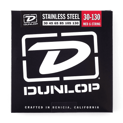 Dunlop DBS30130 Stainless Steel 6-String Bass Strings (30-130)