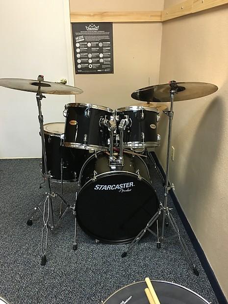 Fender Starcaster 5 Piece Drumset Black Reverb