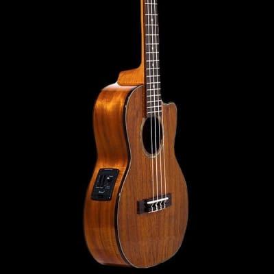 Ohana Ukuleles TK-270GCE   All Solid Acacia with Cut-Away Tenor A/E Ukulele. Brand New!